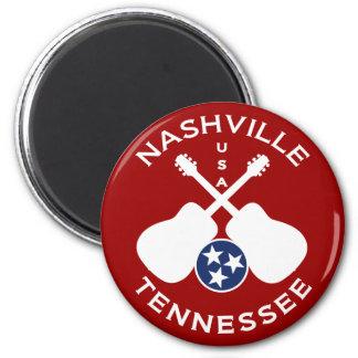 Nashville, Tennessee USA 6 Cm Round Magnet