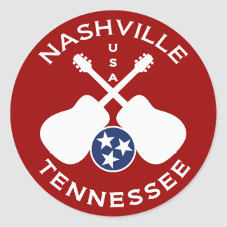 Nashville, Tennessee USA Classic Round Sticker