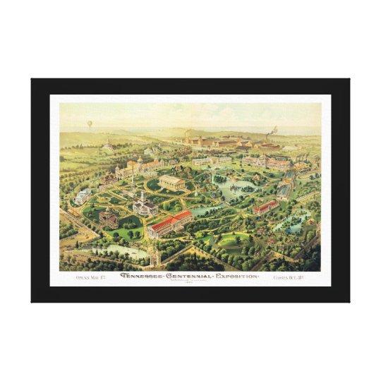 Nashville TN Panoramic Map DIGITALLY REMASTERED Canvas Print