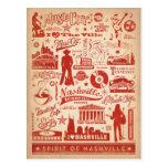 Nashville, TN - Pattern Print Postcard
