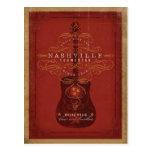 Nashville, TN - Red Guitar Postcard