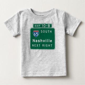 Nashville, TN Road Sign Baby T-Shirt
