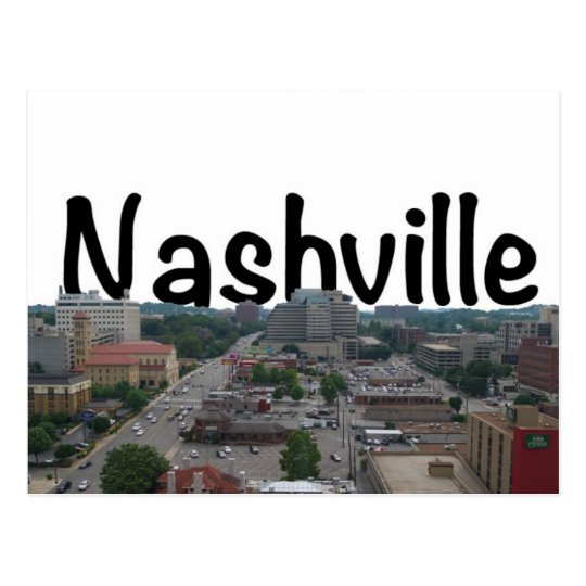 Nashville TN Skyline with Nashville in the Sky Postcard