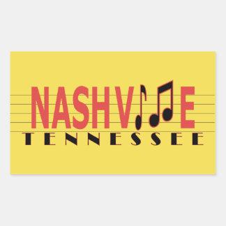 Nashville TN Sticking to the Music Rectangular Sticker