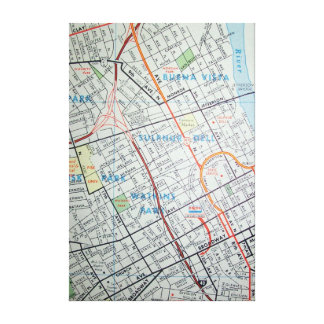 Nashville, TN Vintage Map Print