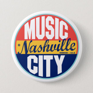 Nashville Vintage Label 7.5 Cm Round Badge