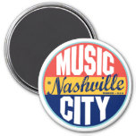 Nashville Vintage Label 7.5 Cm Round Magnet