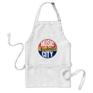 Nashville Vintage Label Adult Apron