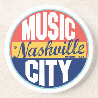 Nashville Vintage Label Beverage Coaster