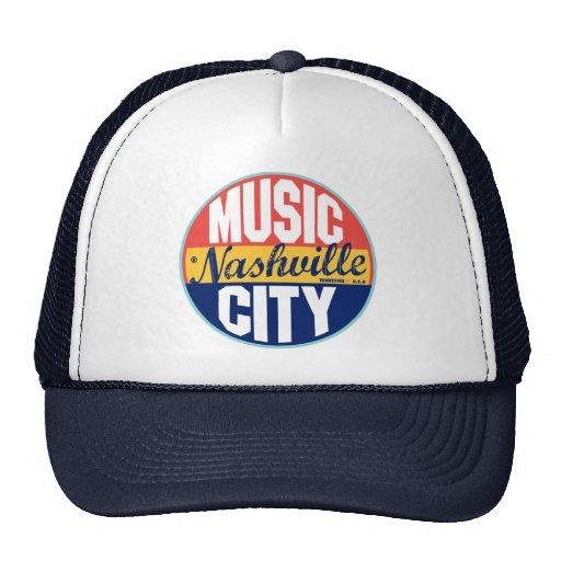 Nashville Vintage Label Mesh Hats