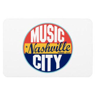 Nashville Vintage Label Rectangular Photo Magnet