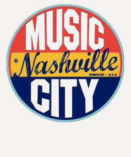 Nashville Vintage Label Tees