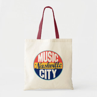 Nashville Vintage Label Tote Bag