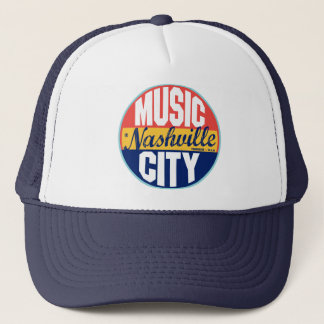 Nashville Vintage Label Trucker Hat