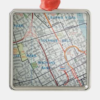 NASHVILLE Vintage Map Christmas Ornament