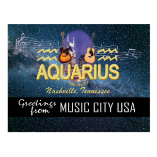 Nashville Zodiac Aquarius Postcard