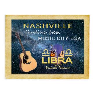 Nashville Zodiac Libra Postcard