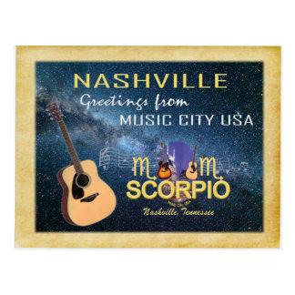 Nashville Zodiac Scorpio Postcard