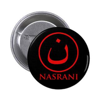 Nasrani  Christian Symbol 6 Cm Round Badge