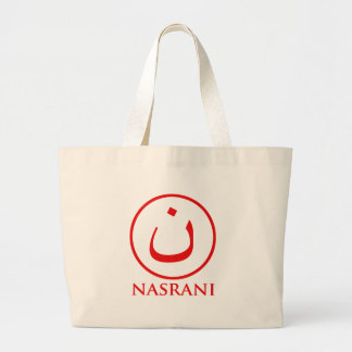 Nasrani  Christian Symbol Large Tote Bag