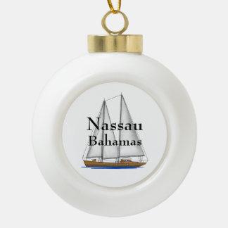 Nassau Bahamas Ceramic Ball Decoration