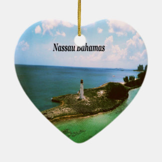 Nassau Bahamas, lighthouse  in harbor Christmas Ornament