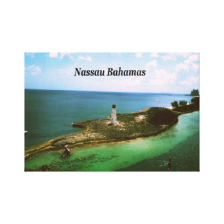 Nassau Bahamas, lighthouse  in harbor Gallery Wrapped Canvas