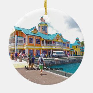 Nassau Bahamas Round Ceramic Decoration