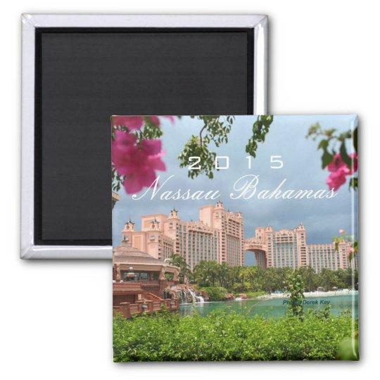 Nassau Bahamas Souvenir Fridge Magnet Change Year