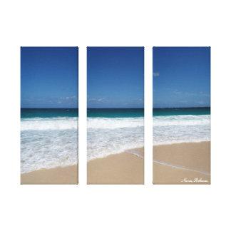 Nassau beach canvas print