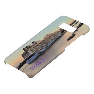 Nassau Daybreak with Cruise Ship Monogrammed Case-Mate Samsung Galaxy S8 Case