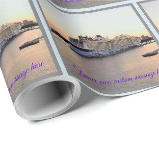 Nassau Harbor Daybreak with Cruise Ship Custom Wrapping Paper