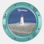 Nassau Porthole Round Sticker