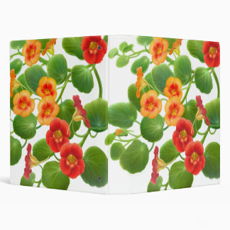Nasturtium Flowers Avery Binder