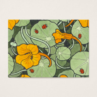 "Nasturtium & Ladybird ""Just for You"" Business Card"