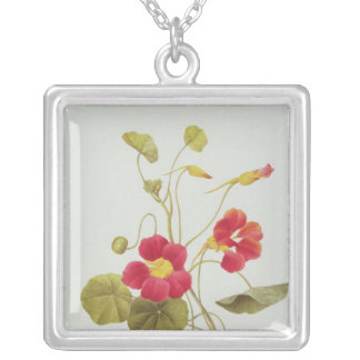 Nasturtium Silver Plated Necklace