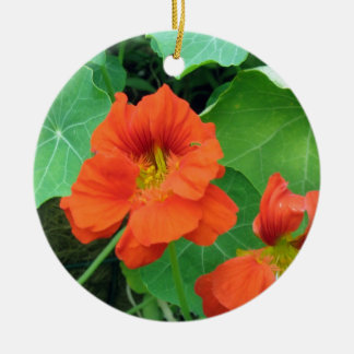 Nasturtiums Christmas Ornament