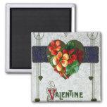 Nasturtiums Vintage Valentine Magnets