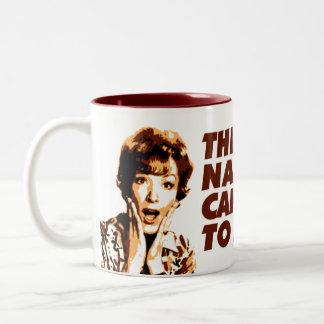 'Nasty Coffee' - KoffeeKat Two-Tone Mug