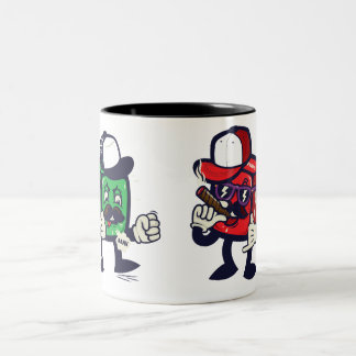 Nasty dices Two-Tone mug