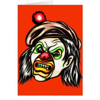 Nasty Evil Clown Stationery Note Card