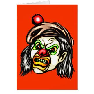 Nasty Evil Clown Greeting Card