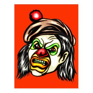 Nasty Evil Clown Postcard