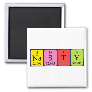 Nasty periodic table name magnet