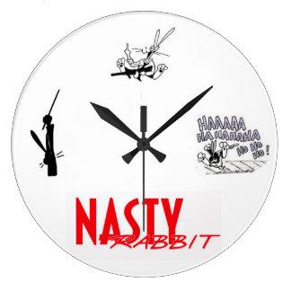 Nasty Rabbit Wallclocks