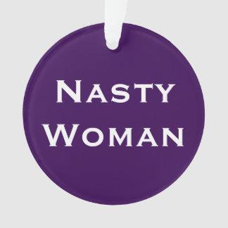 Nasty Woman, bold text on light and dark purple