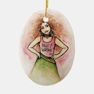nasty woman christmas ornament