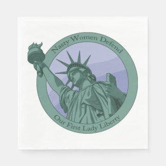 Nasty Woman First Lady Statue Of Liberty Paper Napkin