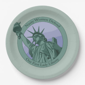 Nasty Woman First Lady Statue Of Liberty Paper Plate