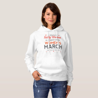 Nasty Woman Red Design Hoodie